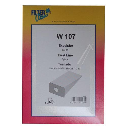 Worek W107 do odkurzacza 5szt.,0