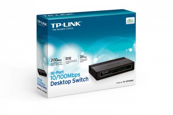 Switch LAN 16 portów TP-Link TLSF1016D,2