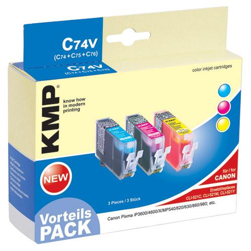 Multipack | Zestaw tuszy C,M,Y do drukarki  C74V,0