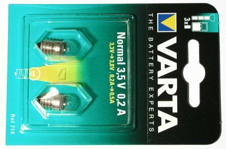 Żarówka 0.7W Varta 714 do latarki 2szt.,0