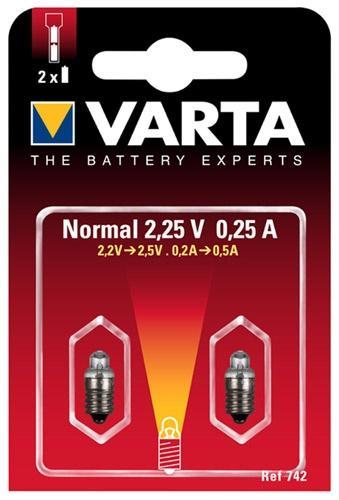 Żarówka Varta 742 do latarki 2szt.,0