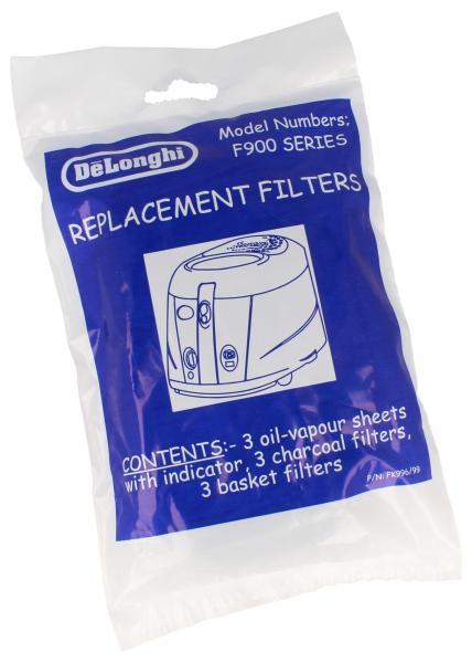 Filtr oleju aktywny (zestaw) do frytkownicy DeLonghi 5525114400,0