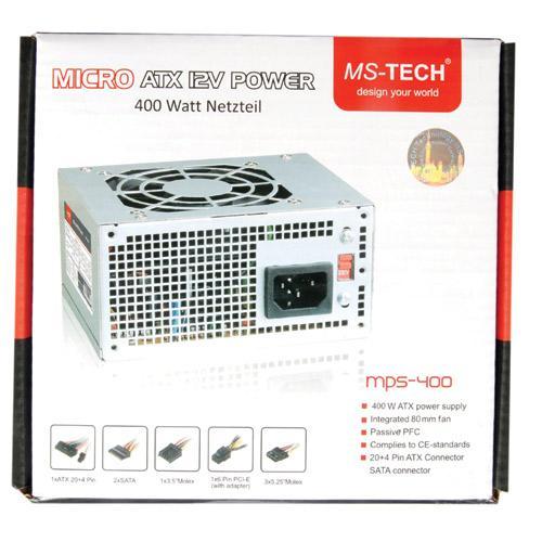 MPS400 400WATT, SFX-NETZTEIL MS-TECH,0
