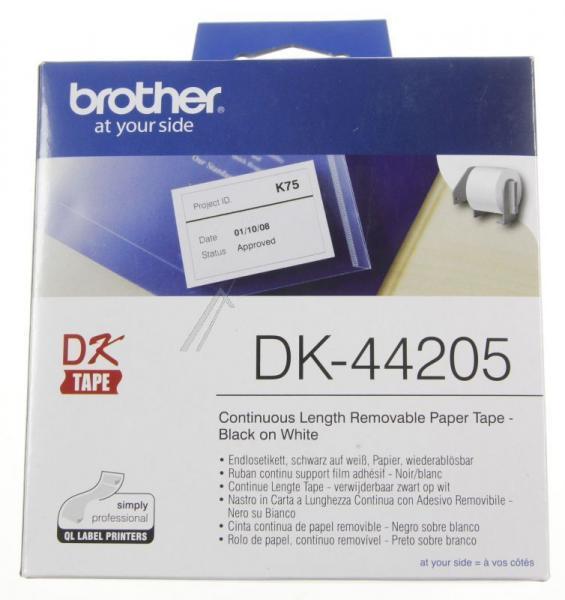 DK44205 EB ZUB BROTHER ENDLOS-ETIKETT DK44205 WIEDERABLSBAR WEISS BROTHER,0