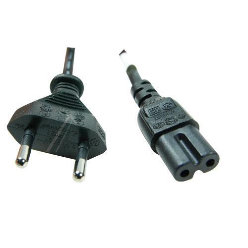 Kabel zasilający EUROPLUG płaski - IEC (wtyk/ C7 gniazdo) 3903000382,0
