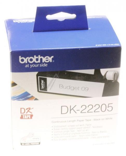 DK22205 EB ZUB BROTHER ENDLOS-ETIKETT DK-22205 WEISS BROTHER,0
