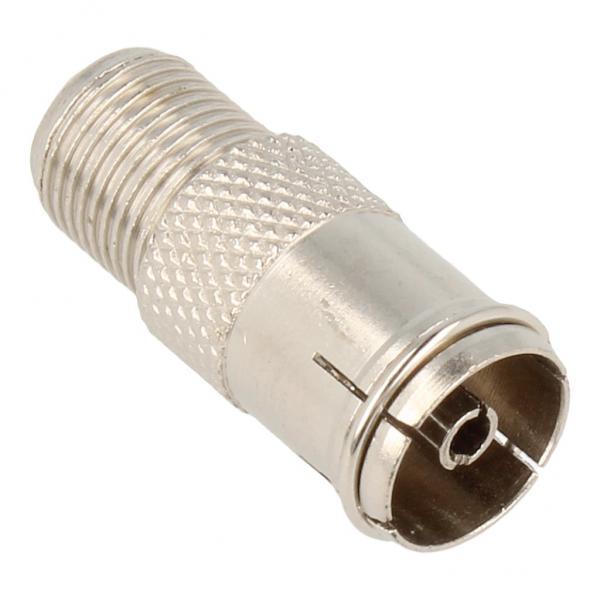 Adapter F- COAX antenowy (wtyk/gniazdo) standard,0