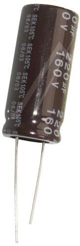 220uF | 160V Kondensator elektrolityczny 105°C 36mm/16mm,0
