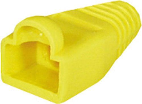 osłona wtyku rj45 żółta,0