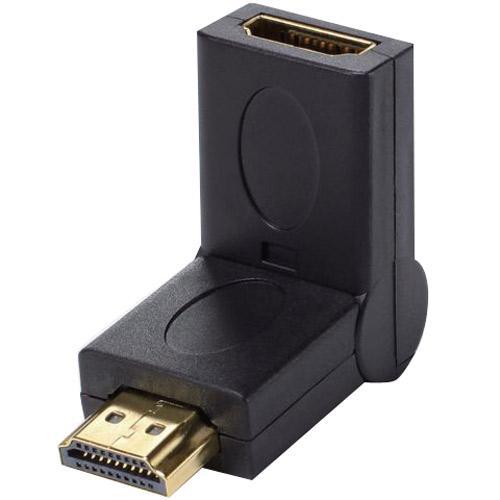 Adapter HDMI (gniazdo/wtyk) - kątowy,0