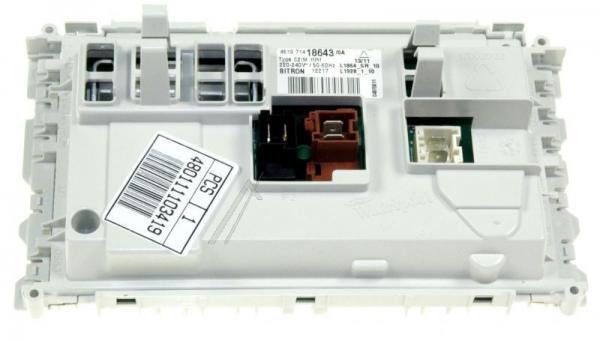 Moduł elektroniczny skonfigurowany do pralki 480111103419,0