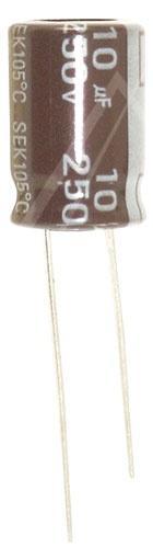10uF | 50V Kondensator elektrolityczny 105°C 16mm/10mm,0