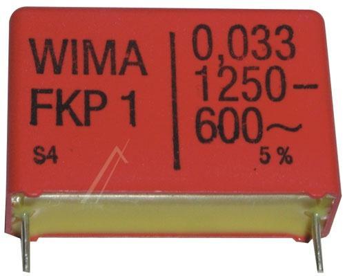 33nF | 1250V Kondensator impulsowy FKP1 WIMA 21mm,0