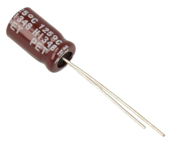 10uF | 63V Kondensator elektrolityczny 125°C 11.5mm/8mm,0
