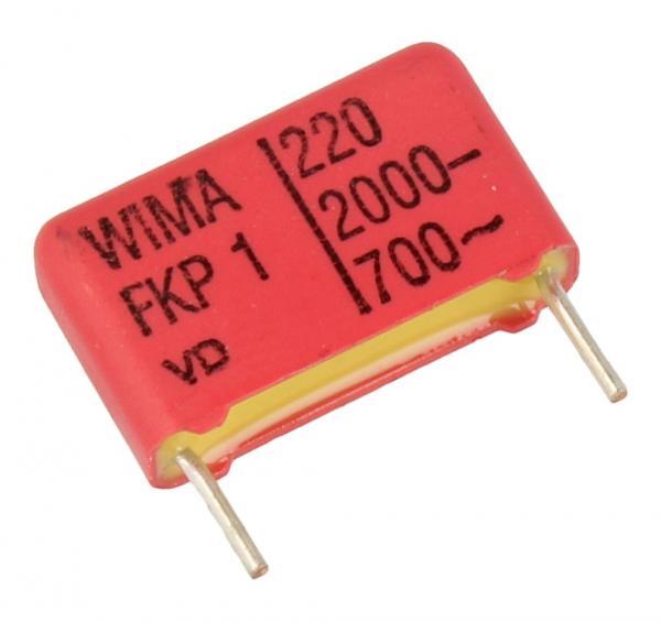 220pF | 2000V Kondensator impulsowy FKP1 WIMA 11mm,0