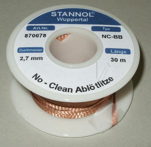 2.7mm Taśma do rozlutowywania Stannol (30m),0