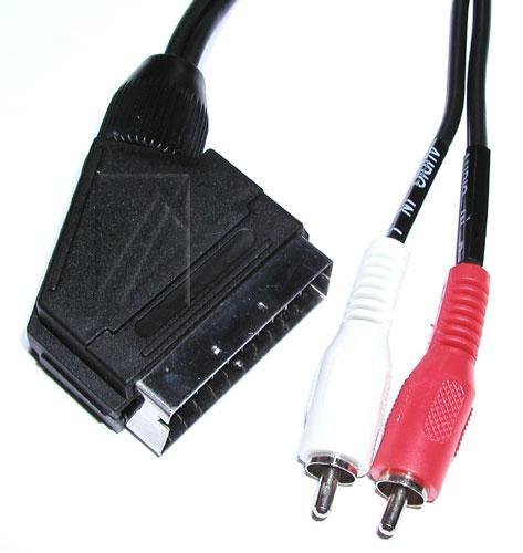 Kabel 5m SCART - CINCH (wtyk/ wtyk x2) standard,0