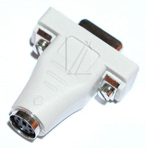 Adapter COM - PS2 (gniazdo/ gniazdo) standard,0