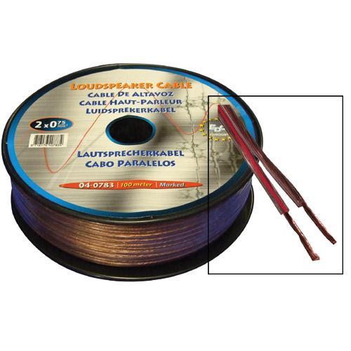 Kabel 100m głośnikowy 0.75mm x2,0