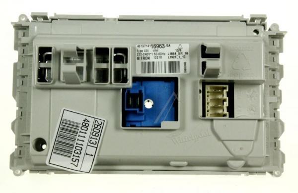 Moduł elektroniczny skonfigurowany do pralki Whirlpool 480111103157,0
