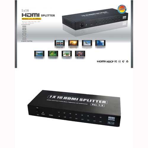 Rozgałęźnik HDMI (gniazdo/ gniazdo x16),0