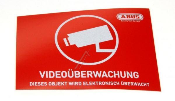 AU1421 WARNAUFKLEBER VIDEOÜBERWACHUNG MIT ABUSLOGO 74 X 52,5 MM ABUS,0