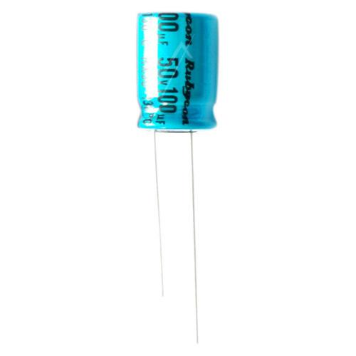 100uF   50V Kondensator elektrolityczny 130°C RX30 12.5mm/10mm,0