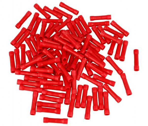osłona zlacza 100szt czerwona,0