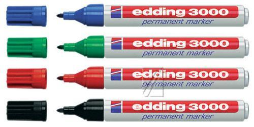 EDDING3000 marker zielony,0