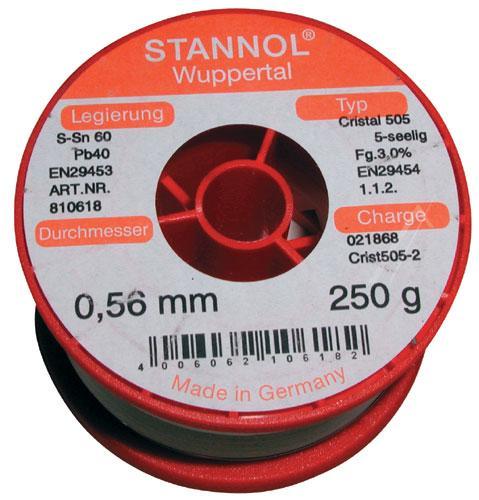 Cyna 0.5mm 250g Stannol - 60/40,0
