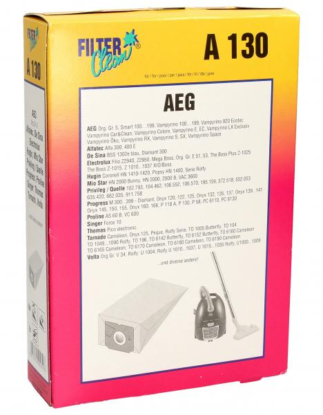 Worek do odkurzacza A130 AEG 6szt. (+filtr) 000139K,0