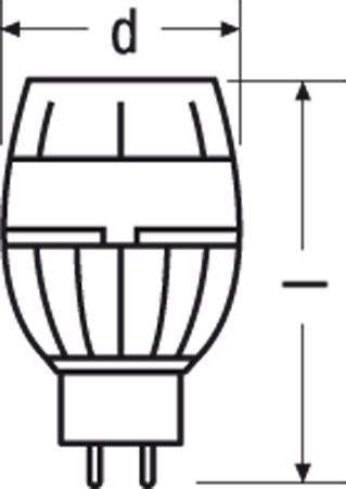 Żarówka | Lampa LED GU5,3 10W Osram Parathom MR16 reflektorowa (biały ciepły),0