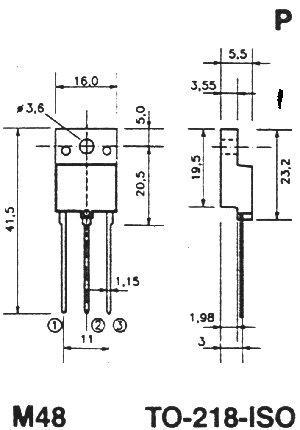 BUV48AFI Tranzystor TO-218 (npn) 450V 15A 1MHz,0
