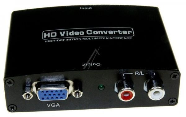 Konwerter HDMI VGA/CINCH - HDMI (gniazdo/gniazdo x5/ gniazdo),0