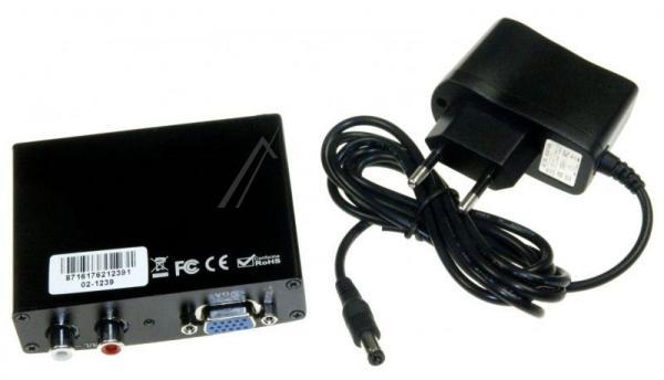Konwerter HDMI VGA/CINCH - HDMI (gniazdo/gniazdo x5/ gniazdo),2