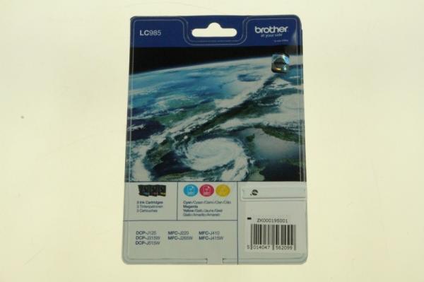 Multipack | Zestaw tuszy C,M,Y do drukarki  LC985RBWBPDR,0