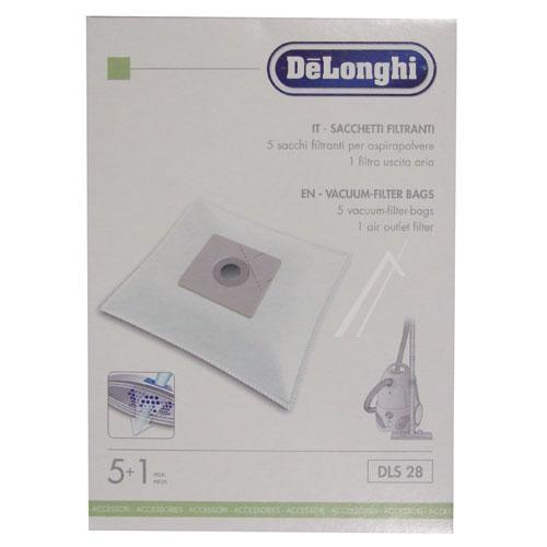 Worek do odkurzacza DLS28 DeLonghi 5szt. (+filtr) 5519110341,0