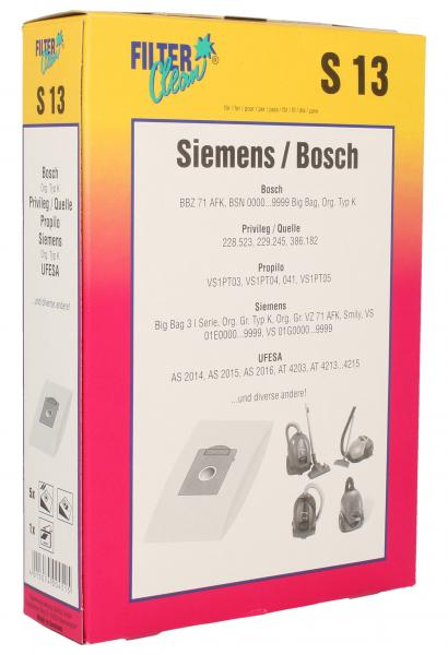 Worek do odkurzacza S13 Siemens 5szt. (+filtr) 000279K,0