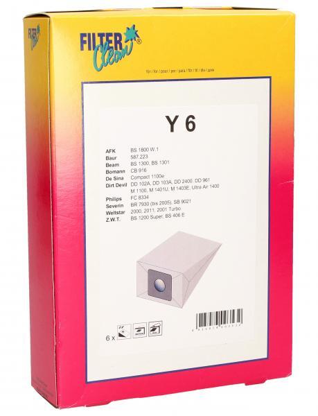 Worek do odkurzacza Y6 6szt. (+2 filtry) 000127K,0