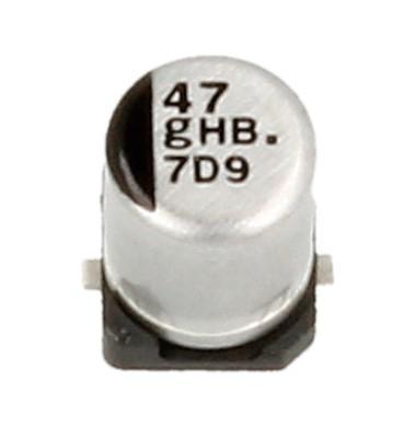 47uF   4V Kondensator elektrolityczny 105°C SMD 4.5mm/4mm,0