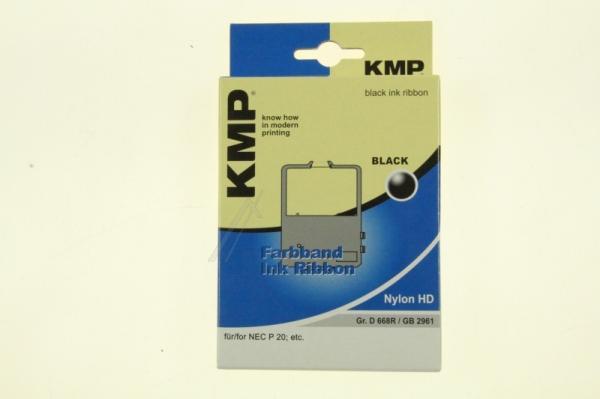 0668,0501 taśma barwna czarna nylon KMP,0