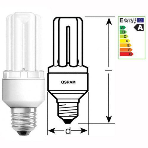 Żarówka | Świetlówka energooszczędna E27 10W Osram Dulux intelligent facility (biały ciepły),0