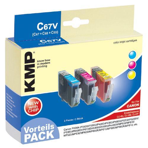 Multipack | Zestaw tuszy C,M,Y do drukarki  C67V,0