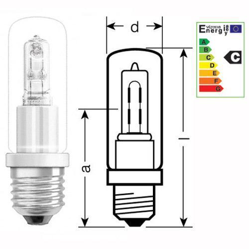 100W 230V Żarówka halogenowa halolux ceram eco (105mm/32mm) 64401CERAM Ciepły biały,0