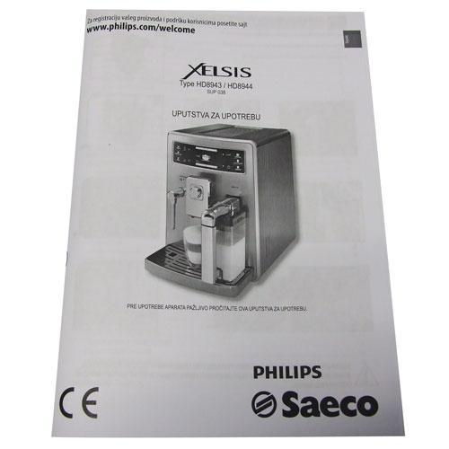 Instrukcja obsługi Saeco 996530067575,0
