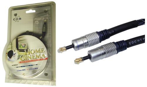 Kabel Mini-TOSLINK 3,5mm 2m (wtyk/ wtyk) high quality,0