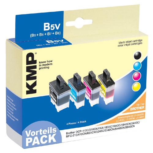 Multipack | Zestaw tuszy BK,C,M,Y do drukarki  B5V,0