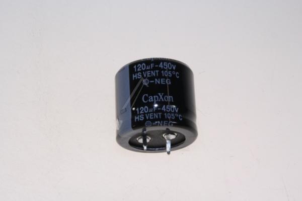 120uF   450V Kondensator elektrolityczny 9JR6700000143,0