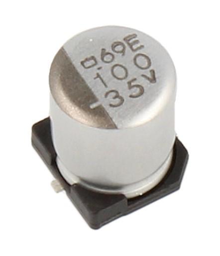 100uF | 35V Kondensator elektrolityczny 105°C SMD 7.7mm/6.3mm,0