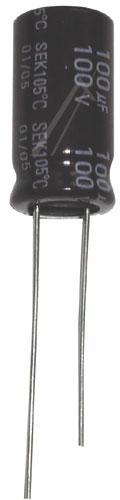 100uF | 100V Kondensator elektrolityczny 105°C 20mm/10mm,0